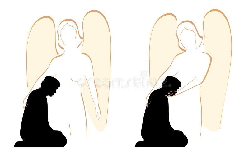 Édredon d'ange illustration stock