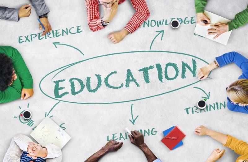 Éducation apprenant le concept d'universitaires photos libres de droits