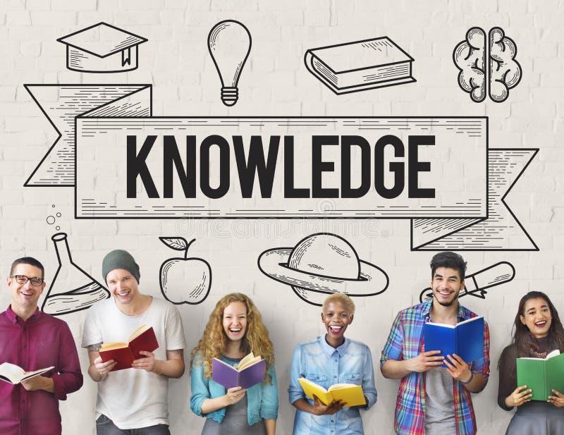 Éducation apprenant le concept de la connaissance d'étude d'idées images libres de droits