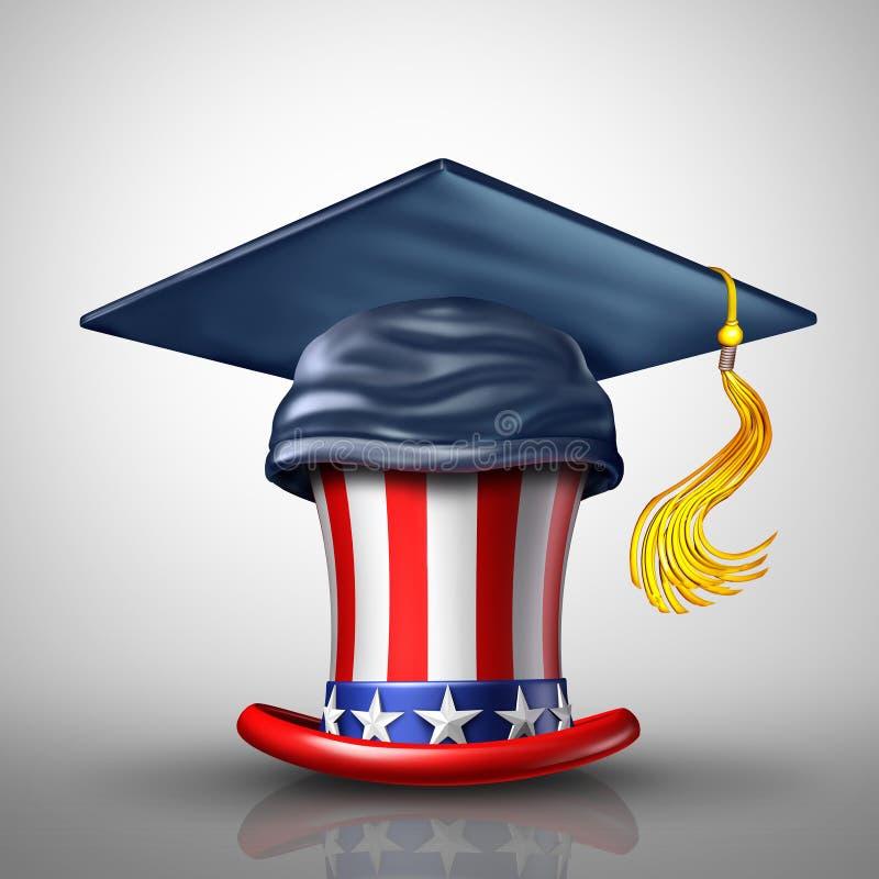 Éducation aux Etats-Unis illustration libre de droits
