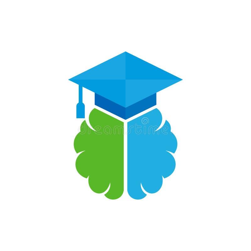 Éducation Brain Logo Icon Design illustration de vecteur