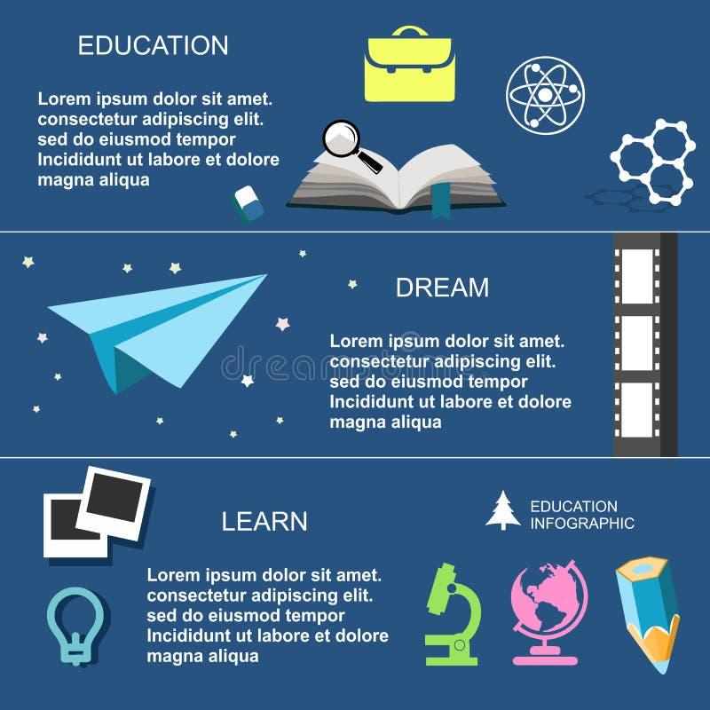 Éducation d'Infographic, conception plate, éléments illustration libre de droits
