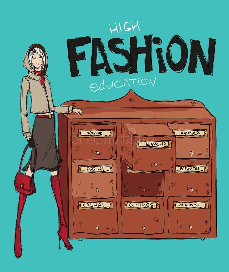 Éducation de haute couture illustration libre de droits