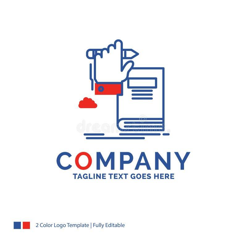 Éducation de Logo Design For de nom de la société, la connaissance, étude, pro illustration de vecteur