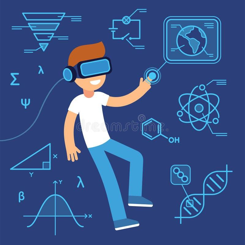 Éducation de réalité virtuelle illustration libre de droits