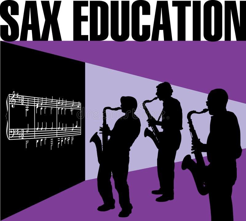 Éducation de saxo illustration de vecteur