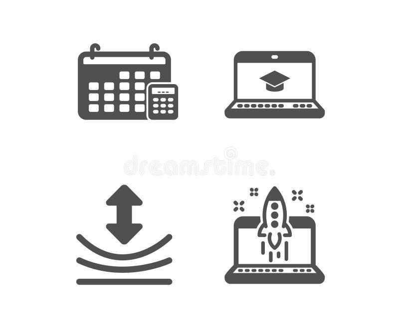 Éducation de site Web, icônes de résilience et de calendrier Signe d'affaires de d?but Vecteur illustration de vecteur