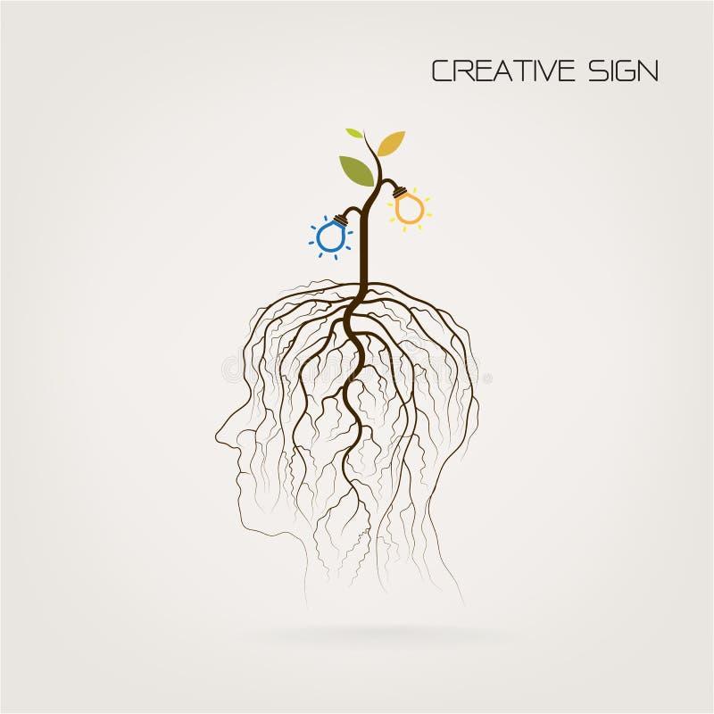 Éducation et concept d'affaires L'arbre de la pousse de la connaissance se développent dessus illustration libre de droits