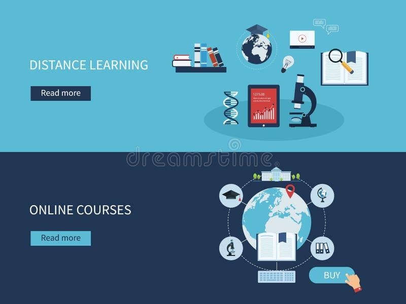 Éducation et cours en ligne illustration de vecteur