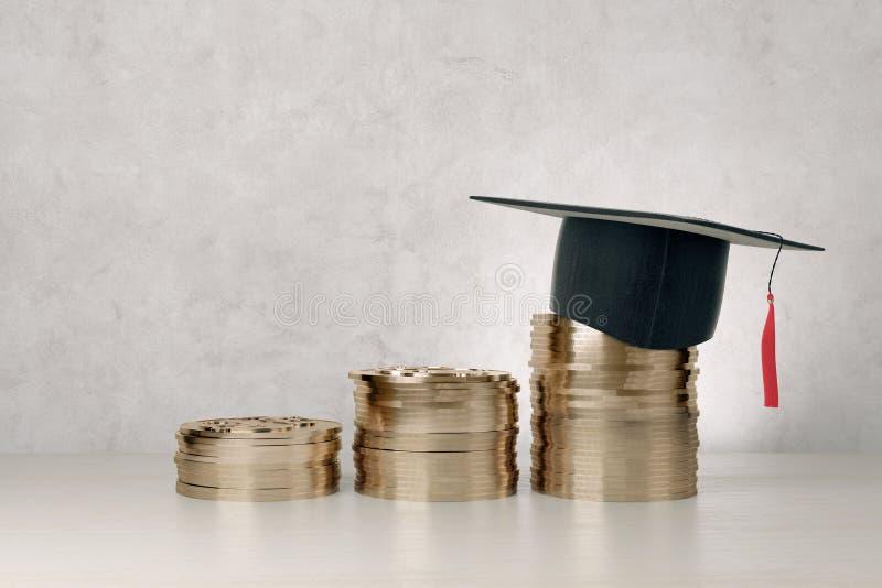 Éducation et croissance financière images stock