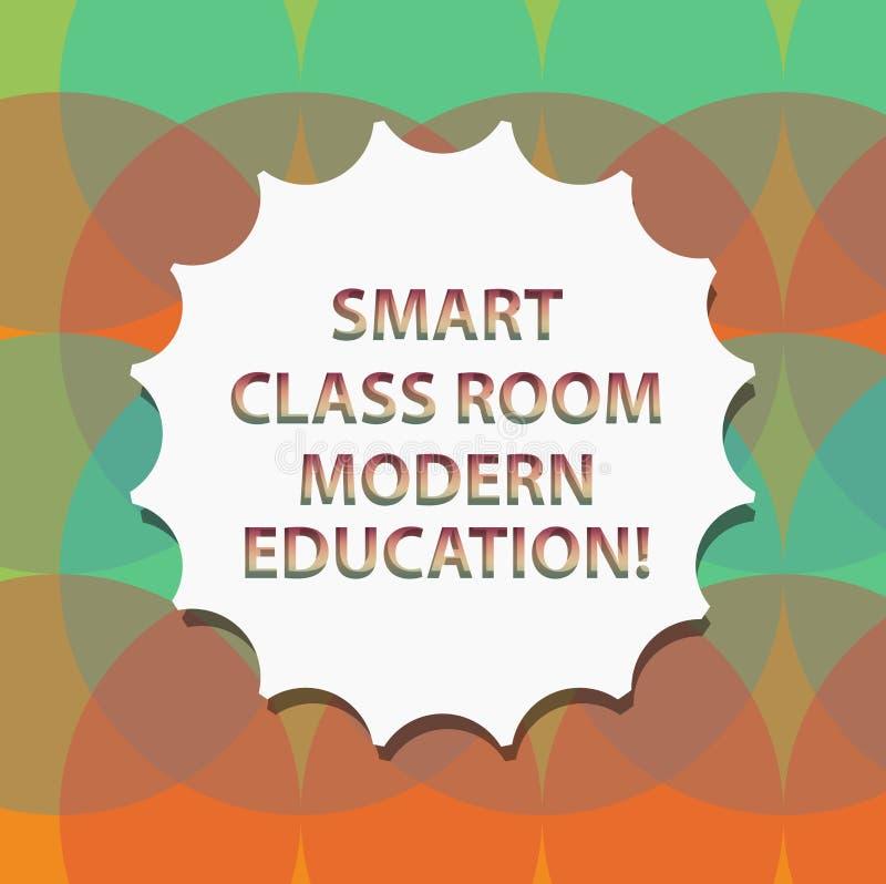 Éducation moderne futée de pièce de classe des textes d'écriture de Word Concept d'affaires pour de nouvelles technologies pour l illustration stock