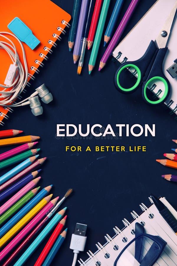 Éducation pendant une meilleure vie photographie stock