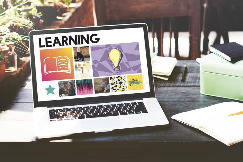 Éducation scolaire apprenant le concept de graphique de sagesse images libres de droits