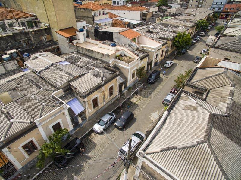 Égal de maisons de voisinage Rua Economizadora, Bairro DA Luz Station Bairro da Luz, sao Paulo Brazil photographie stock