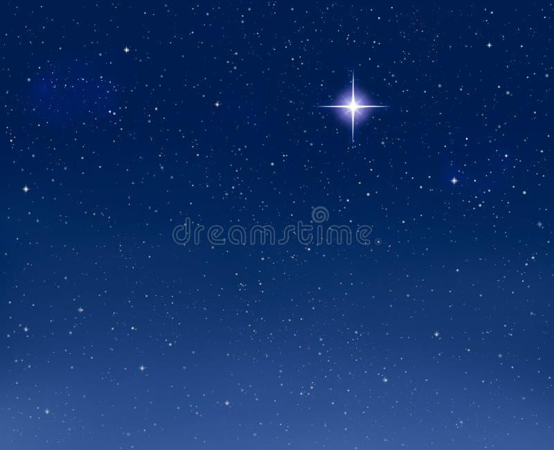 égaliser l'étoile rougeoyante illustration stock