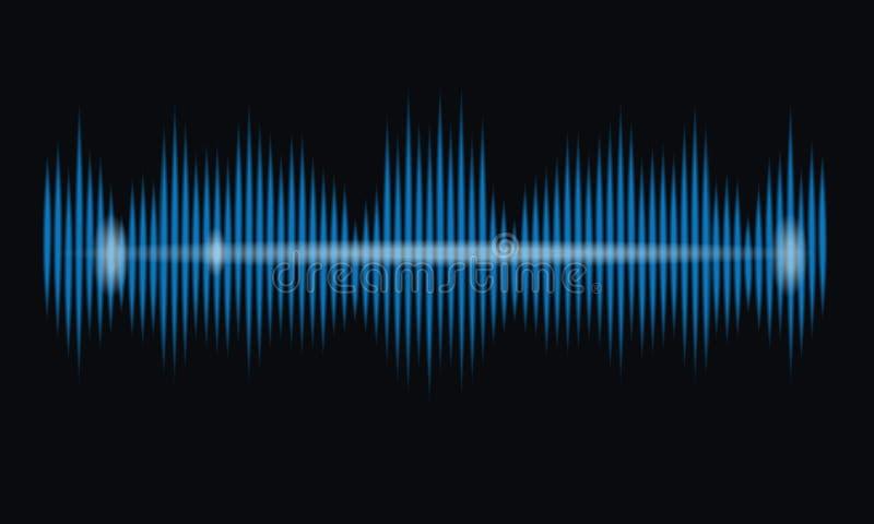 Égaliseur bleu de musique d'onde sonore images stock