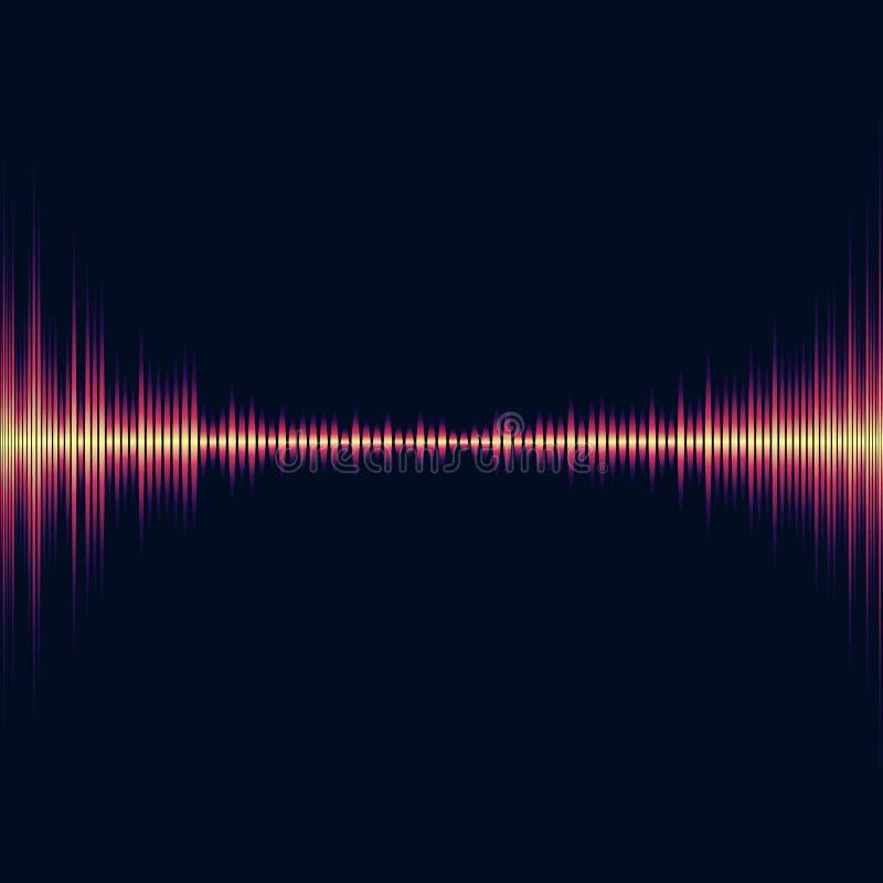 Égaliseur brillant lumineux de musique Vagues extraterrestres de résumé illustration de vecteur