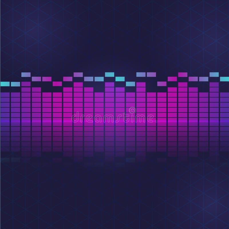 Égaliseur d'ondes de sonore et d'audio photo libre de droits