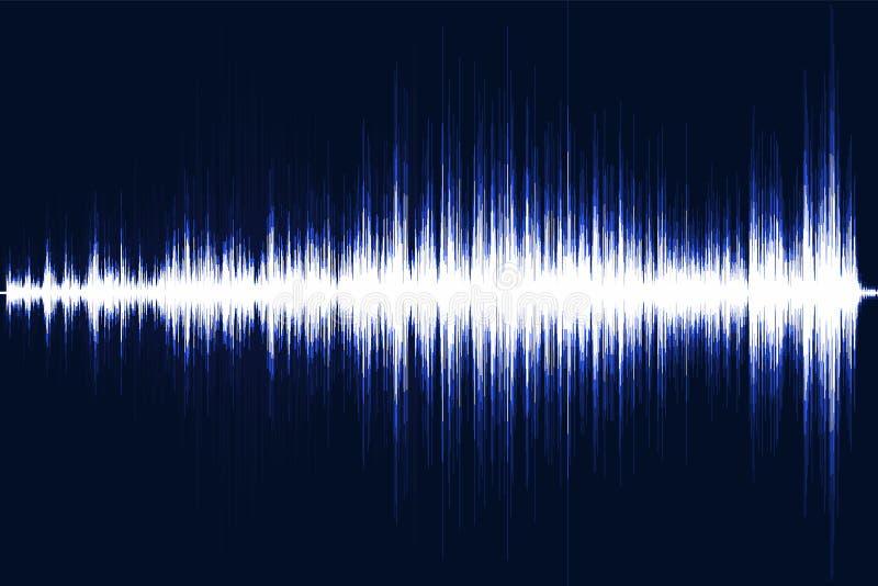 Égaliseur musical Onde sonore Fréquence par radio Illustration de vecteur illustration libre de droits