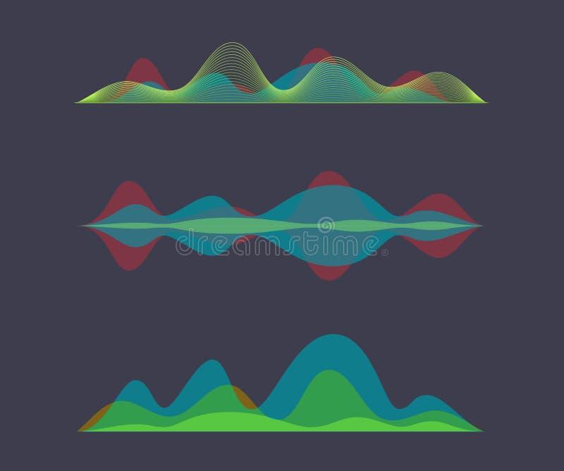 Égaliseur numérique coloré d'onde sonore illustration stock
