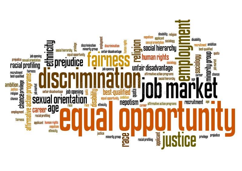 Égalité des chances illustration libre de droits