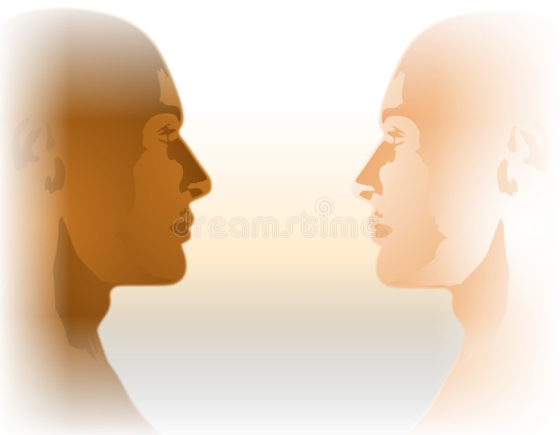 Égalité raciale tête à tête illustration libre de droits