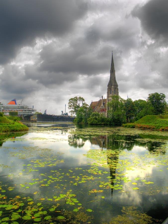 Église à Copenhague, Danemark photos stock