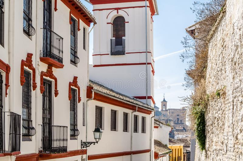 Église à Grenade, Espagne image libre de droits