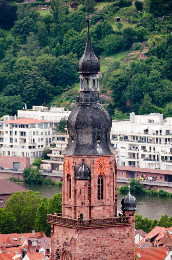 église à Heidelberg images stock