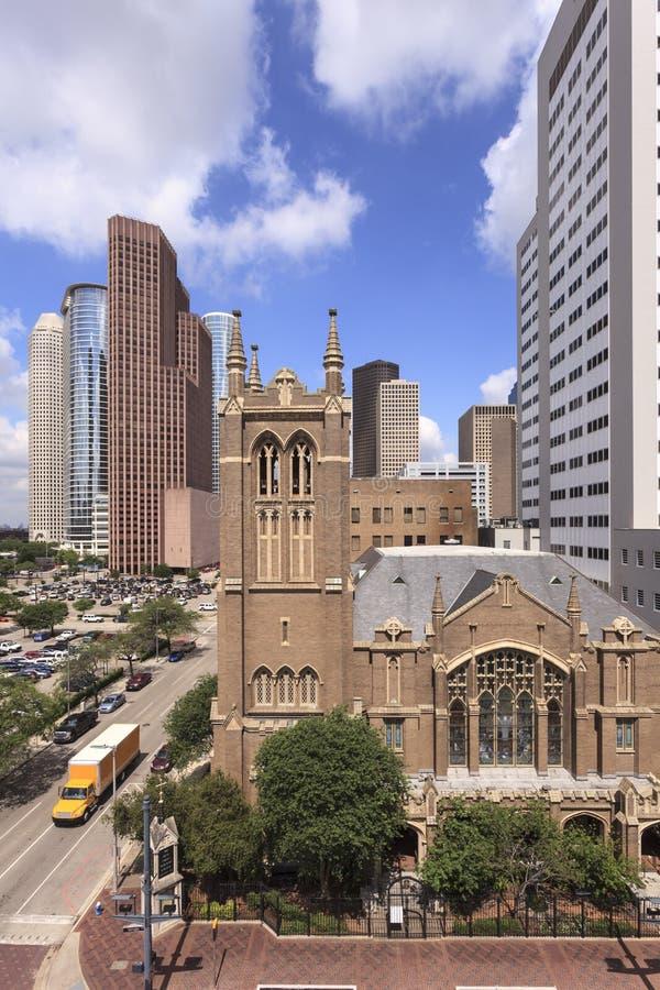 Église à Houston du centre photographie stock