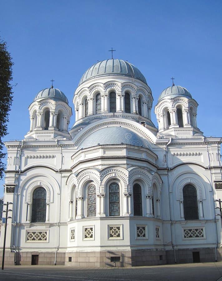 Église à Kaunas, Lithuanie photographie stock libre de droits