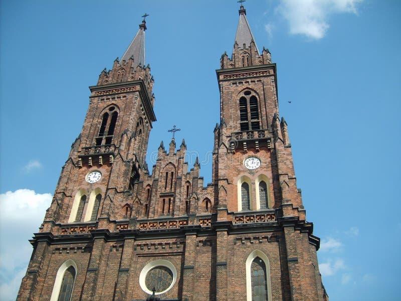 Église à Lodz photographie stock libre de droits