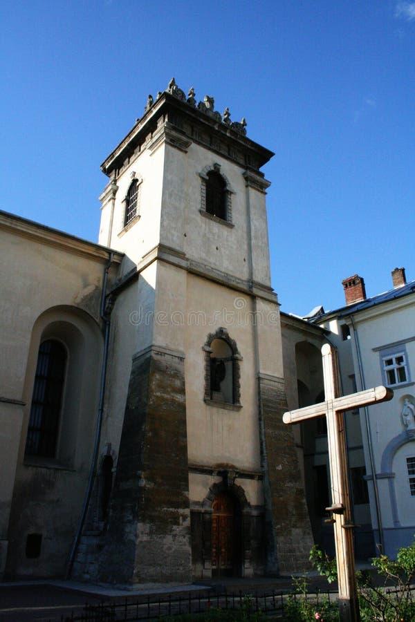 Église à Lviv photo stock