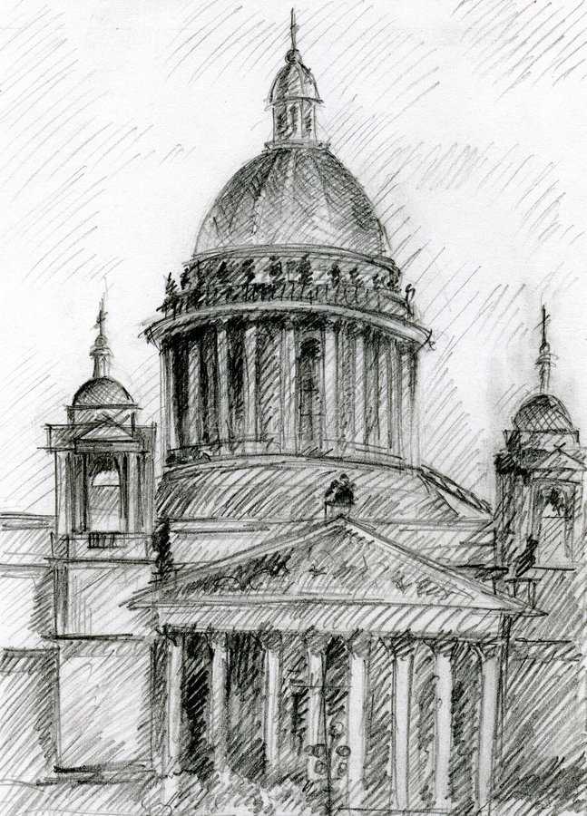 Église à St Petersburg illustration stock