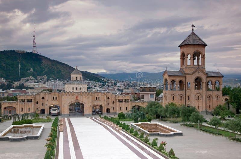 Église à Tbilisi image stock