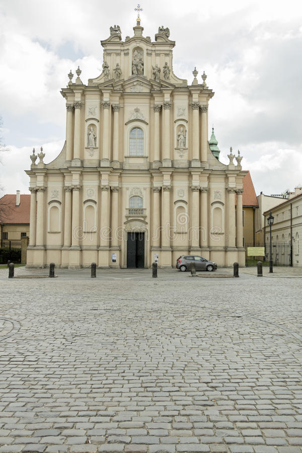 Église à Varsovie images libres de droits