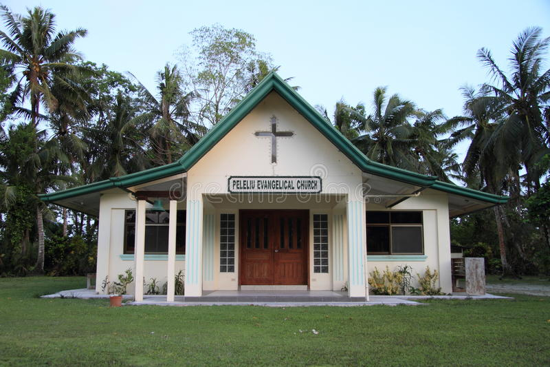 Église évangélique de Peleliu photo stock