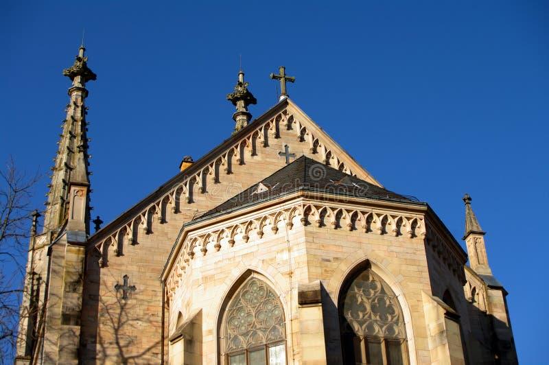 Église évangélique de ville dans Baden-Baden, Allemagne photos stock