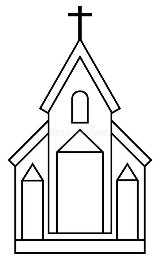 Glise illustration de vecteur illustration du chr tien - Eglise dessin ...