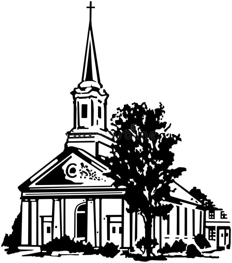 Église illustration libre de droits