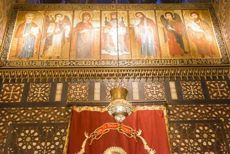 Église accrochante du Caire copte, Egypte image libre de droits