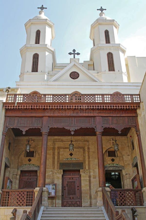 Église accrochante le Caire image stock