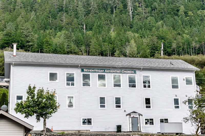 Église adventiste de septième jour en Alaska photographie stock libre de droits