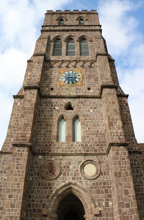 Église Anglicane du ` s de St George, Basseterre, St Kitts et Niévès image stock