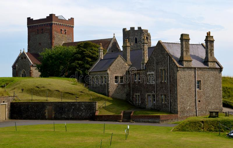 Église anglo de Saxon chez Dover Castle photo stock