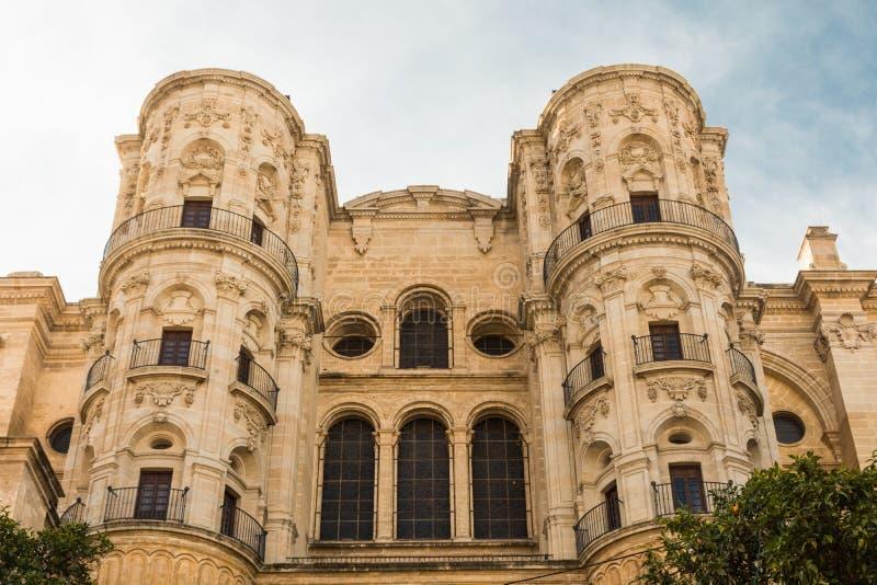 Église antique à Malaga photos libres de droits
