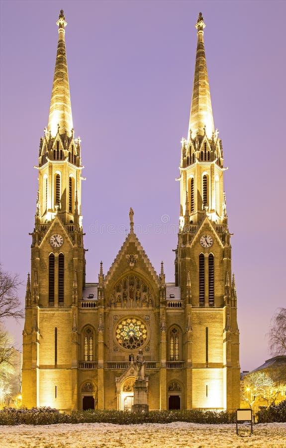Église au crépuscule image libre de droits