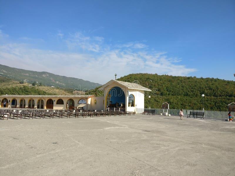 Église avec une vue photo libre de droits