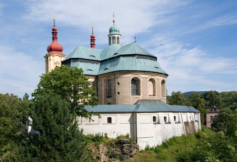 Église baroque dans Hejnice, République Tchèque photo stock