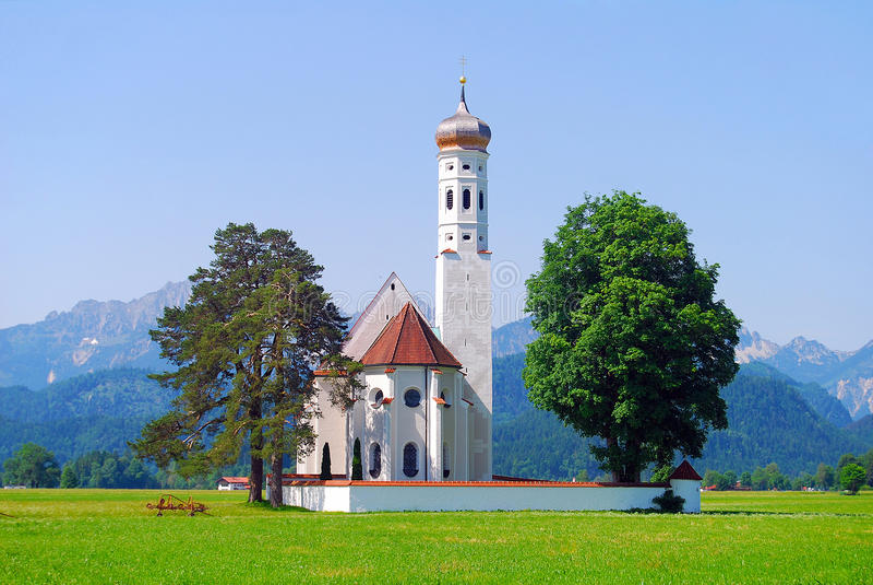 Église baroque de saint-Coloman photo stock
